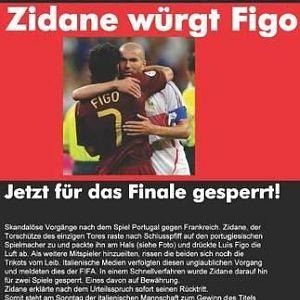 Zidane wuergt Figo